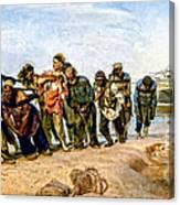 Barge Haulers On The Volga 1870-1873 Canvas Print