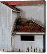 Barn - Geometry - Red Roof Canvas Print