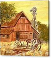 Barn  -  Windmill  -  Old Rake Canvas Print