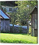 Barn And Chicken Coop Canvas Print
