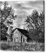 Barn And Clouds Canvas Print