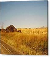Barn And Corn Field Canvas Print