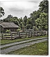 Barn And Corral Canvas Print