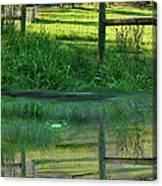 Barn And Fence Canvas Print