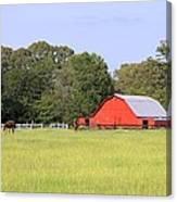 Barn And Pasture Canvas Print