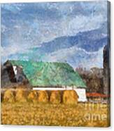 Barn And Silo In West Virginia Canvas Print