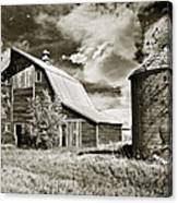 Barn And Silo Canvas Print