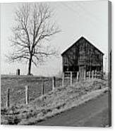 Barn And Tree Canvas Print