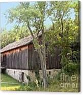 Barn At Adena Canvas Print