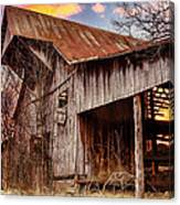 Barn At Sunset Canvas Print
