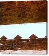 Barn Built By The Ccc At The Tieton Work Center Canvas Print