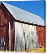 Barn By Side Of Road Canvas Print