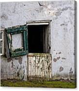 Barn Door In Need Of Repair Canvas Print