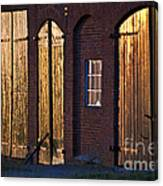 Barn Door Lighting Canvas Print