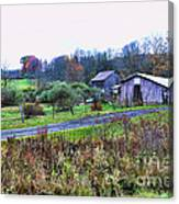 Barn - End Of The Road Canvas Print