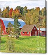 Barn In Autumn Canvas Print