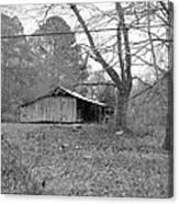 Barn In Black Canvas Print