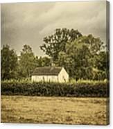 Barn In Corn Field Canvas Print