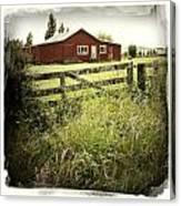 Barn In Field Canvas Print