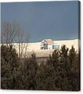 Barn In North Dakota Canvas Print