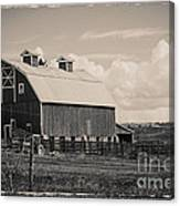 Barn In Polaroid Canvas Print