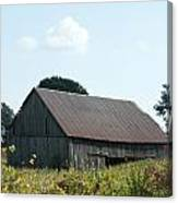 Barn In The Grass Canvas Print