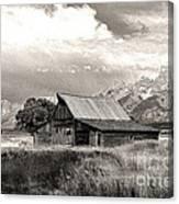 Barn In The Tetons Canvas Print