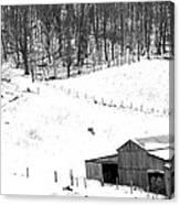Barn In Winter Canvas Print