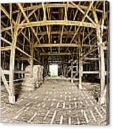 Barn Interior Canvas Print
