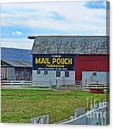 Barn - Mail Pouch Tobacco Canvas Print