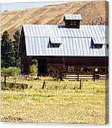 Barn Near Ellensburg Wa Canvas Print