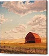 Barn Near Moscow Canvas Print
