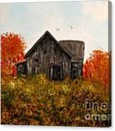 Barn Old Rusted And Deserted Canvas Print
