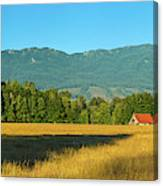 Barn On Cascade Road In Rockport Canvas Print