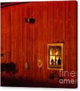 Barn On Fire Canvas Print