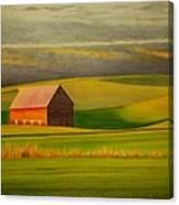 Barn On The Palouse Canvas Print