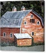 Barn On Va Creeper Trail Canvas Print