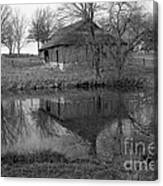 Barn Reflection Canvas Print