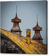 Barn Roof In Color Canvas Print