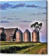 Barn Silos Canvas Print