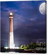 Barnegat Lighthouse Super Moon Canvas Print