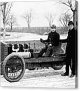 Barney Oldfield And Henry Ford Canvas Print