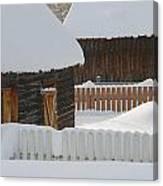 Barns And Fences Canvas Print