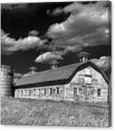 Barns Are Beautiful II Bw Canvas Print