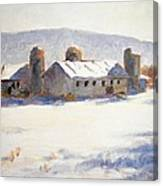 Barns In Blue  Canvas Print