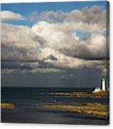 Barns Ness Lighthouse  East Lothian Canvas Print