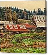 Barns On A Farm Canvas Print