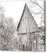 Barnyard Snowfall Canvas Print
