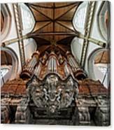 Baroque Grand Organ In Oude Kerk Canvas Print