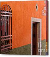 Barred Window, Mexico Canvas Print